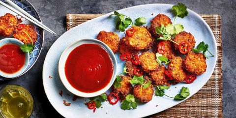 Crispy fish balls with sweet and sour sauce