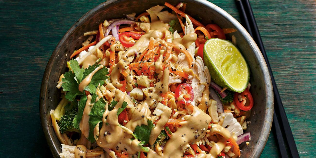 Asian style salad with 'core' slaw