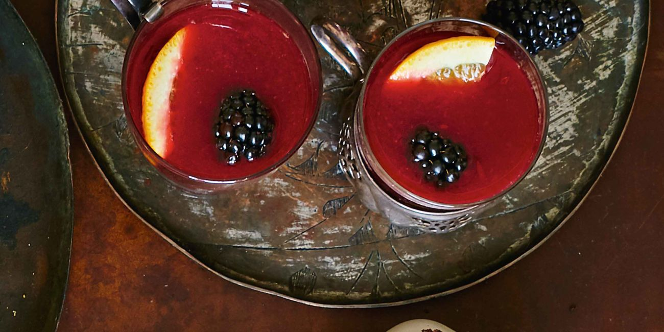 Mulled midnight magic mocktail