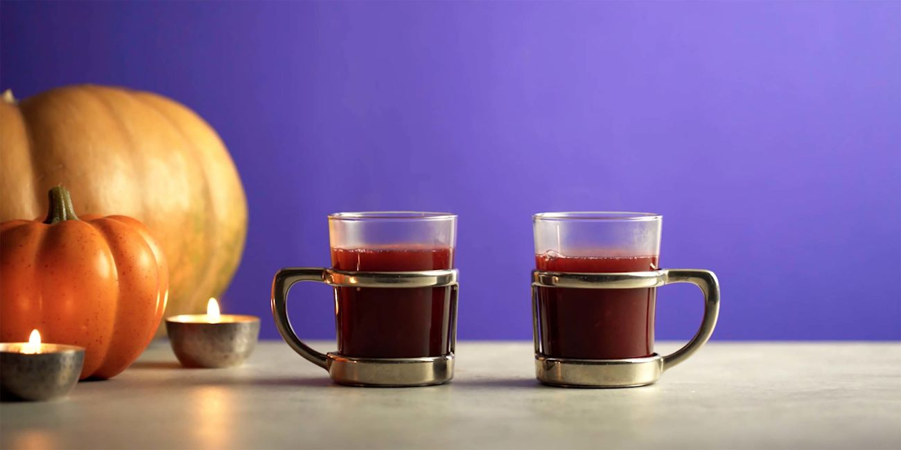 Mulled midnight magic cocktail