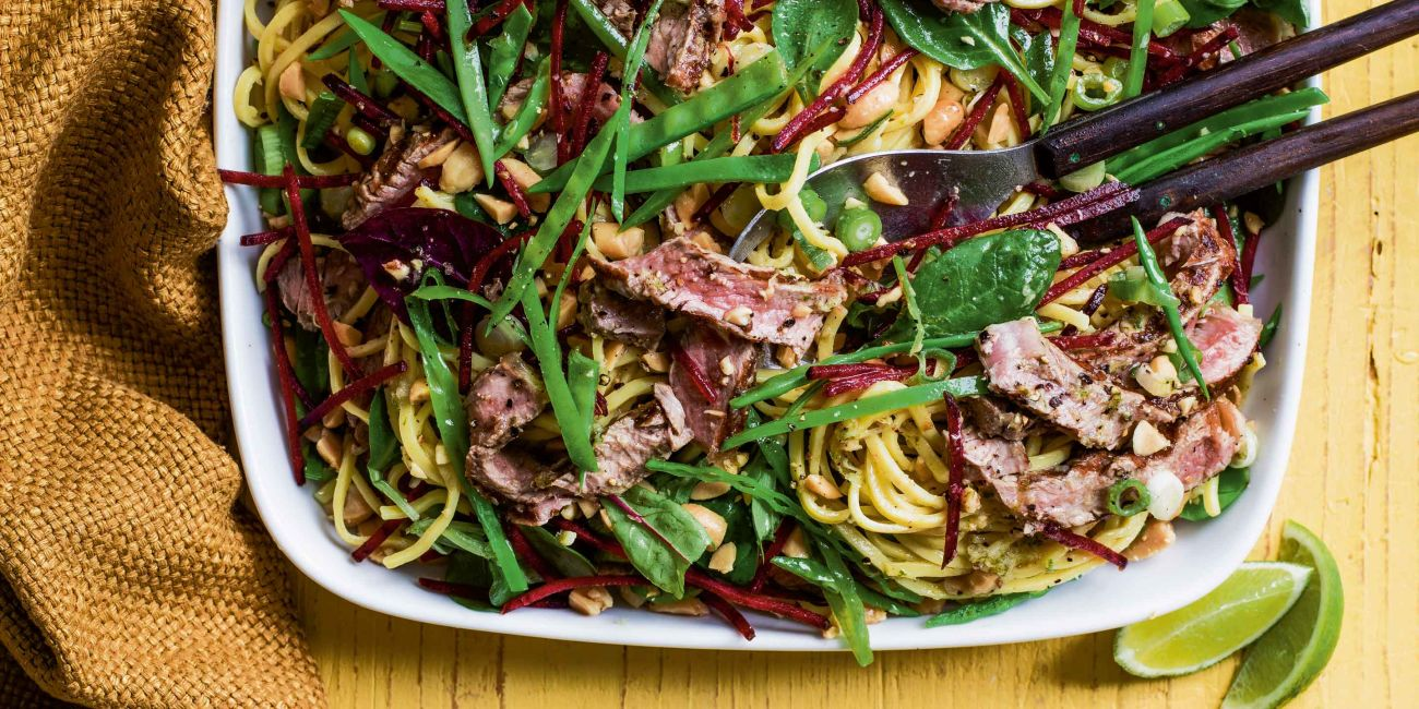 Asian-inspired steak & noodle salad