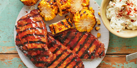 Bbq pork loin steaks