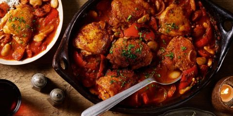 Chicken and chorizo hotpot