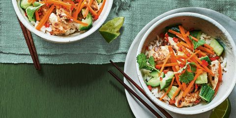 Banh mi bowls with smashed cucumber