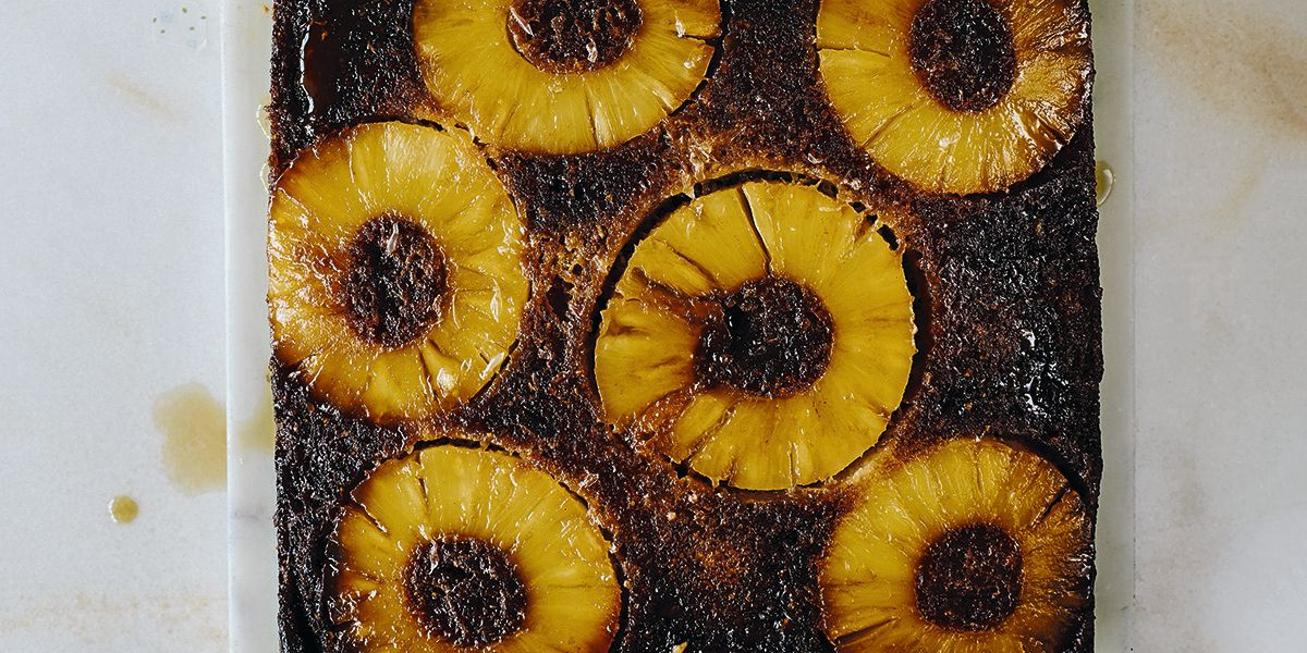 Pineapple, lime and coconut upside down cake