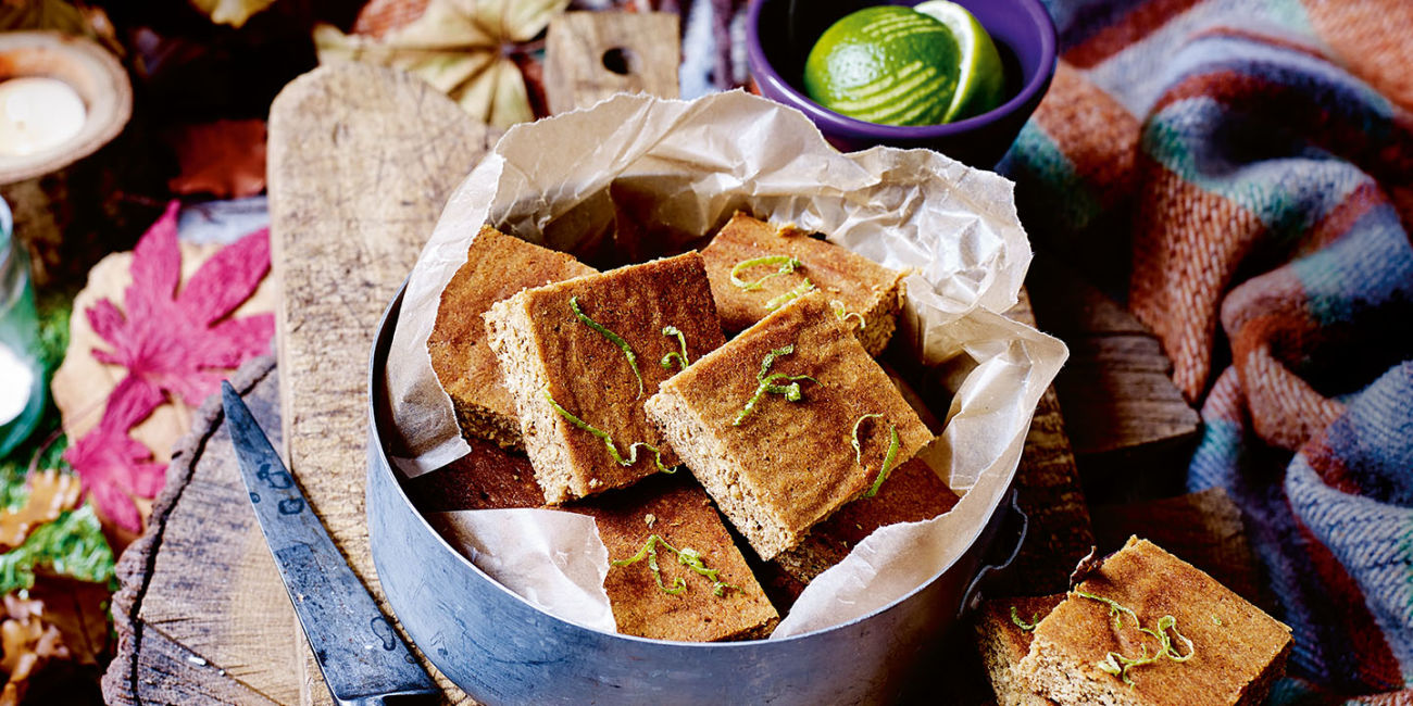 Lime and ginger parkin