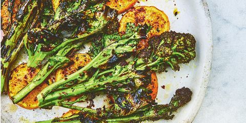 Chargrilled sprouting broccoli & clementines