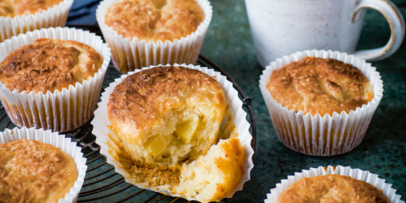 Pineapple and coconut muffins