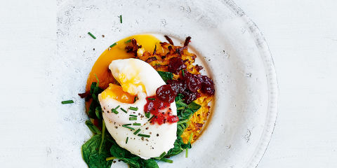 Sweet potato rosti florentine