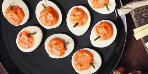 Pumpkin devilled eggs