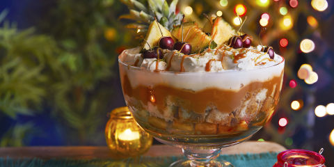 Upside-down pineapple trifle
