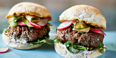 Zingy beef burgers