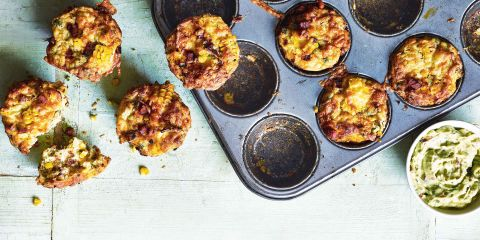 Sweetcorn, chorizo and chilli muffins