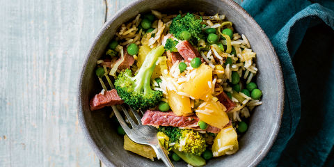 Gammon and pineapple rice bowls