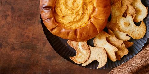 Pumpkin houmous and ghostly dippers