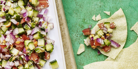 Indian style cucumber salsa