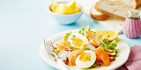 Smoked scottish salmon salad