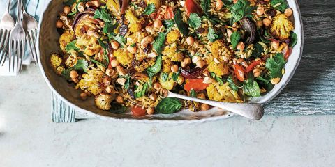 Masala roasted veg with wholegrain rice salad