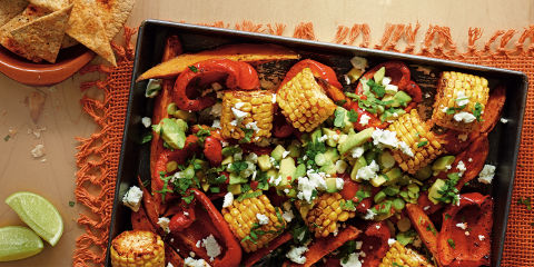 Mexican traybake with salsa