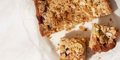 Raspberry crumble Bakewell squares