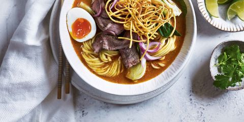 Curried coconut beef ramen
