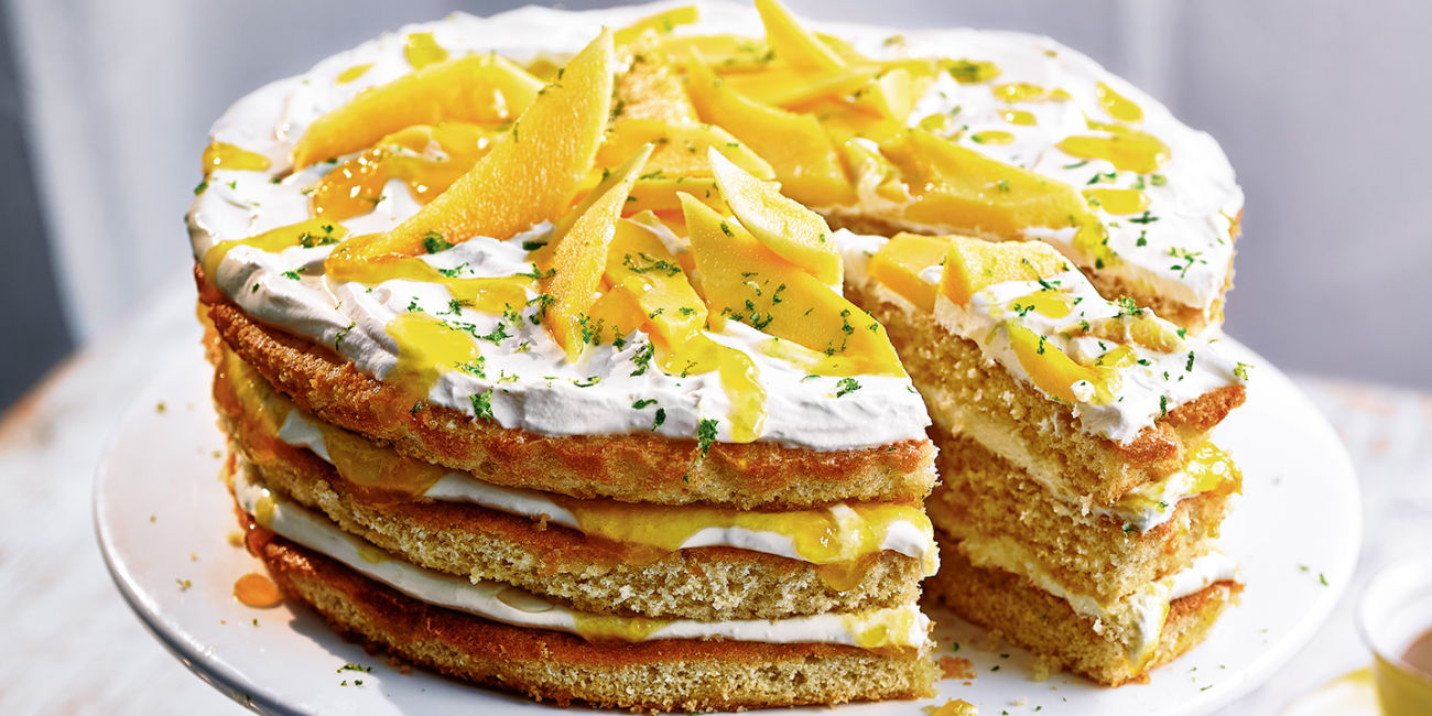 Mango lassi layer cake