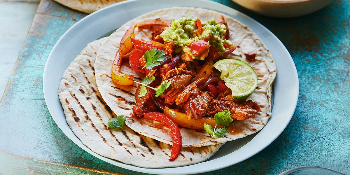Smoky mackerel fajitas