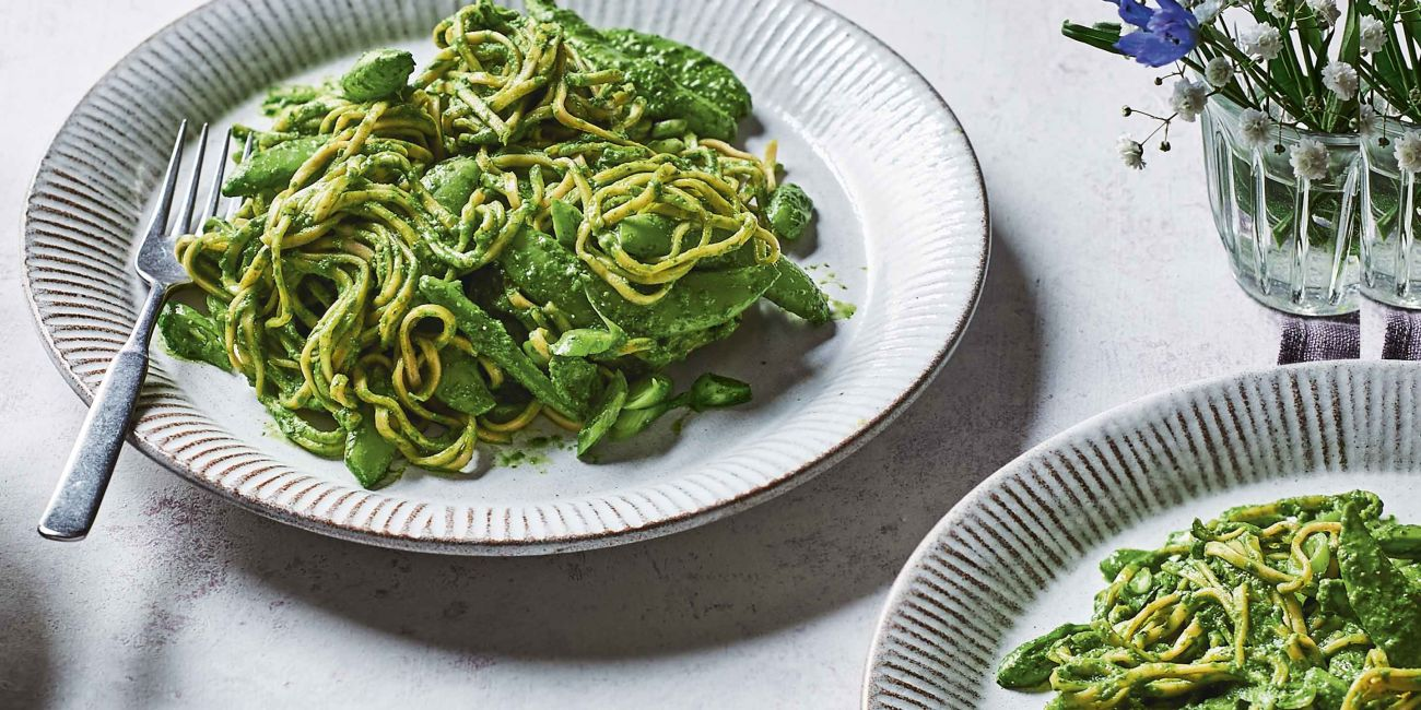 Noodles with Asian 'Pesto'