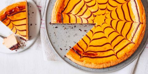 Pumpkin & dark chocolate cheesecake