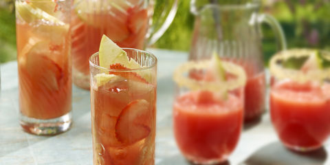 Pineapple & strawberry picnic punch
