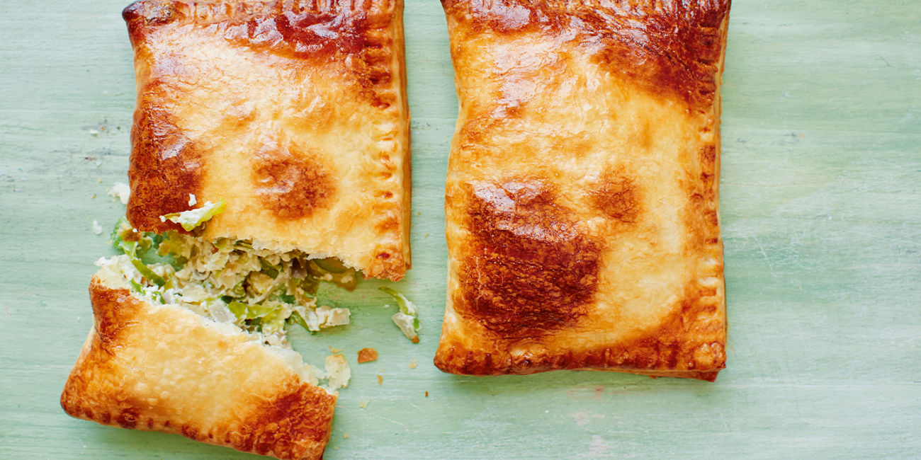 Sprout and stilton puffs
