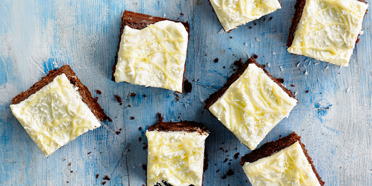 Chocolate and coconut traybake