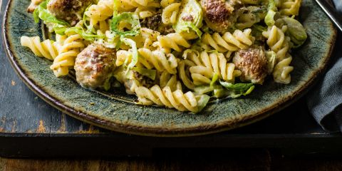 Sausage, sage and sprout pasta