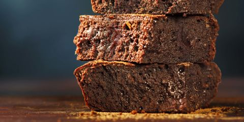 Spiced red wine brownies