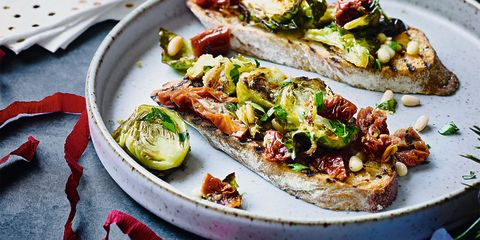 Brussels sprout bruschetta