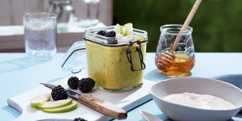 Golden milk bircher