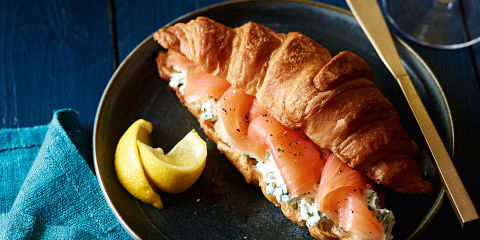 Smoked salmon croissants
