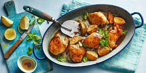 Chicken thighs with roasted lime