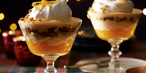 Whisky and clementine trifles