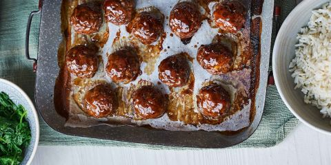 Sticky marmalade and chilli meatballs
