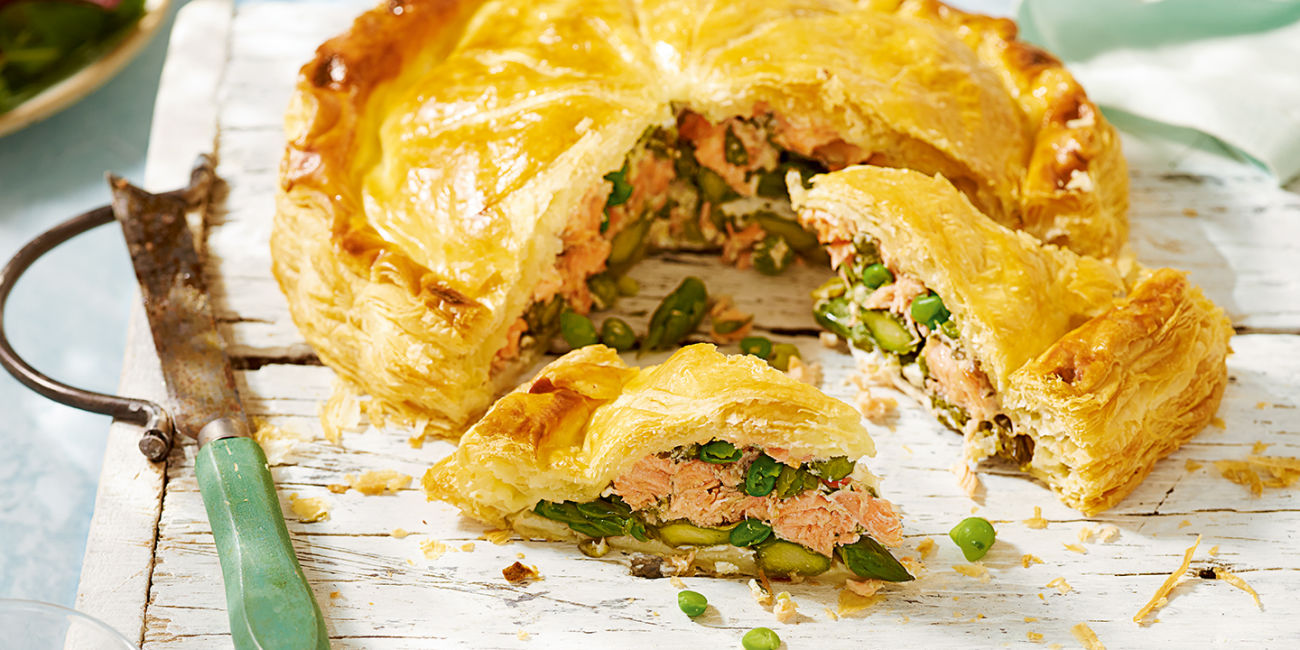 Scottish salmon pithivier