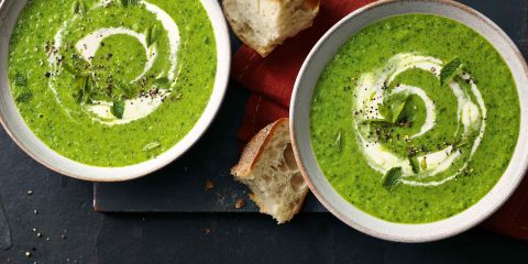 Lettuce & mint soup