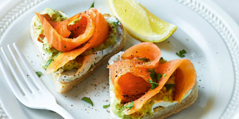 Love heart smoked salmon muffins