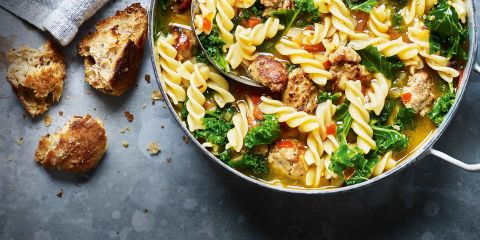 Sausage pasta broth