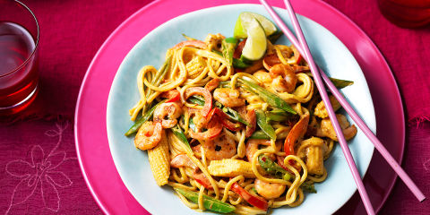 Thai prawn stir fry