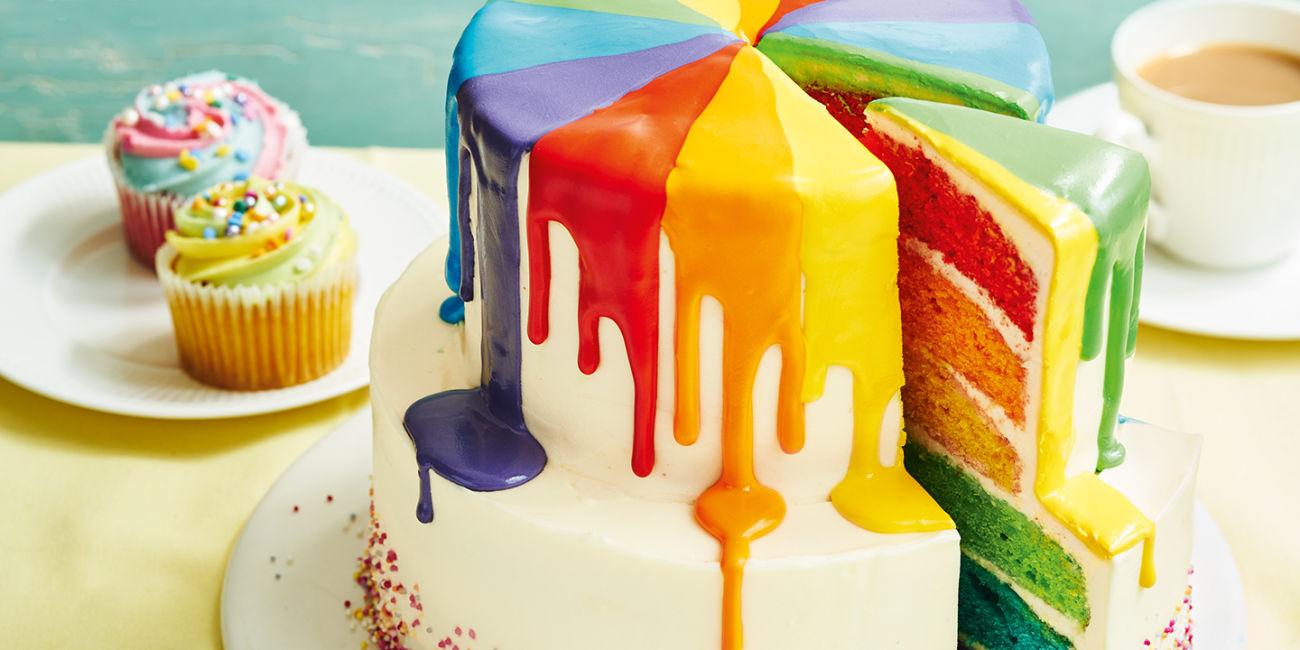 Rainbow Drip Cake Recipes Co Op