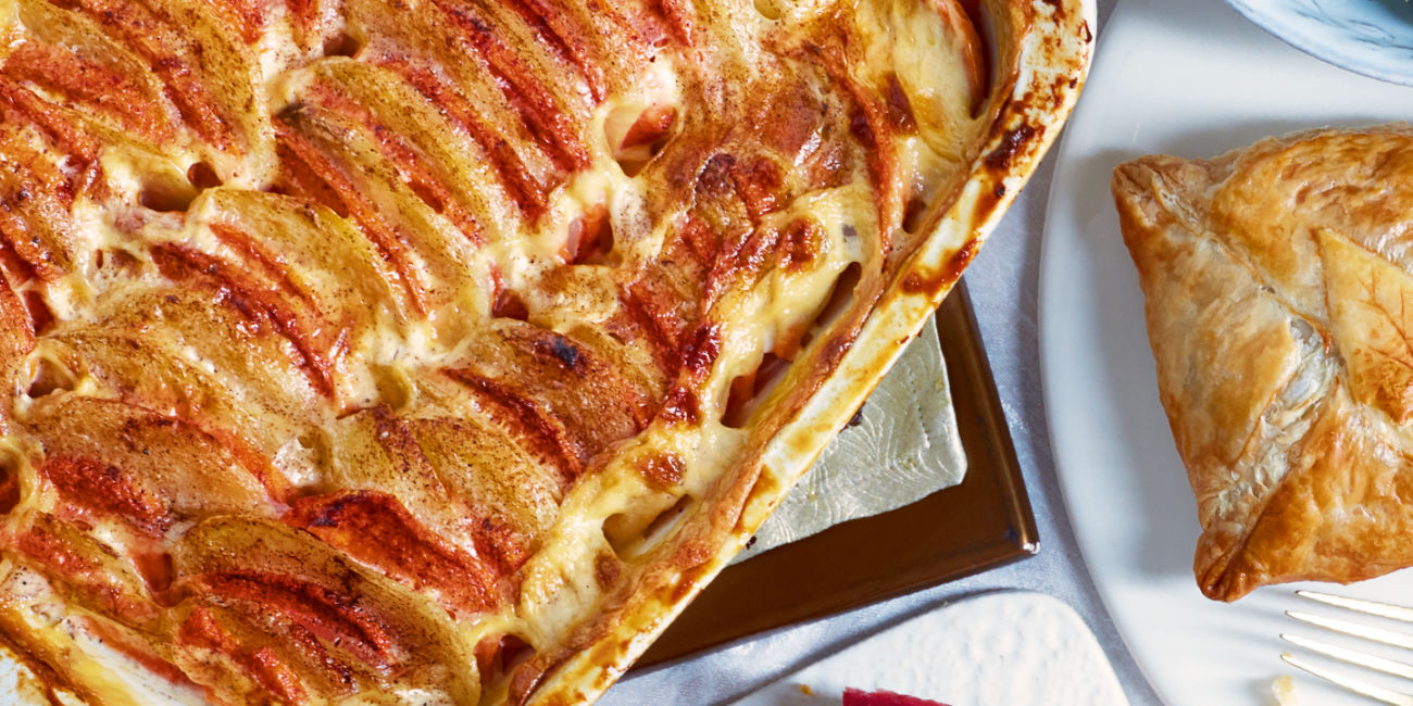Two potato dauphinoise