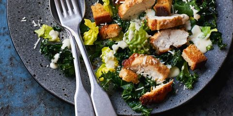 Winter Caesar salad with chicken