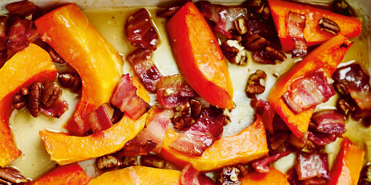 Maple bacon squash
