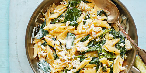 Lemon, spinach and feta pasta